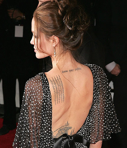 Famous Women Celebrity Tattoo