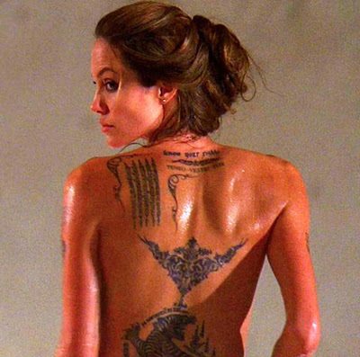 Gossips Tattoo design: Jolie Defends Tattoos