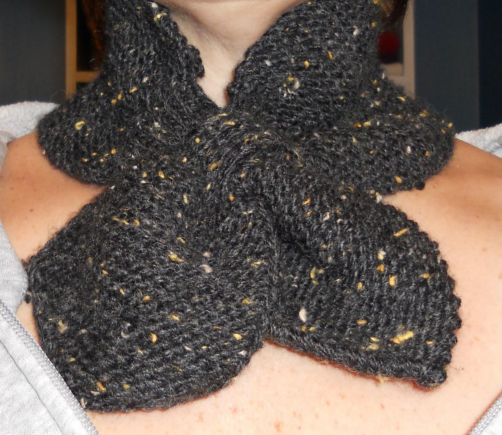 Knit Scarf Pattern Martha Stewart : SewItMakeItBakeIt: Martha Stewart neck scarf completed