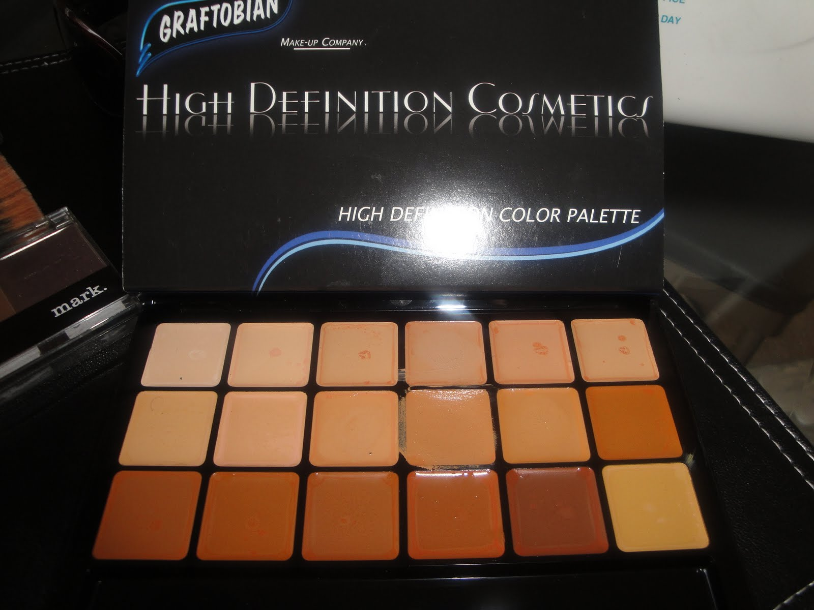 how to use graftobian foundation palette