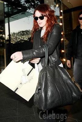 Celebrate Handbags: Rumer Willis + YSL Easy Zip Tote