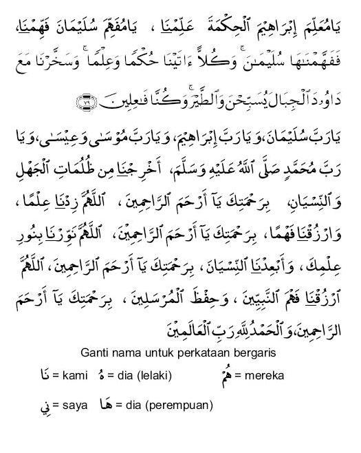 doa penerang hati Sulaiman |