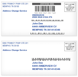 Picture demonstrating sample impact of the new Intelligent Mail barcode