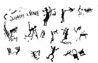 наскальные рисунки первобытных людей: