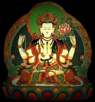 monde bouddhiste le mantra de chenrezig ou avalokiteshvara. Black Bedroom Furniture Sets. Home Design Ideas
