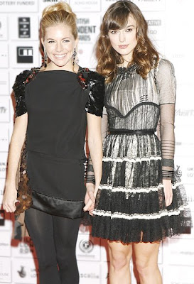 Actresses Keira Knightley and Sienna Miller