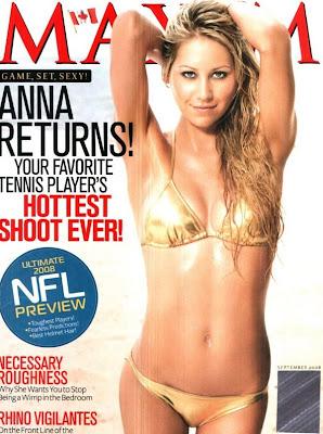 anna kournikova Maxim Magazine cover photo