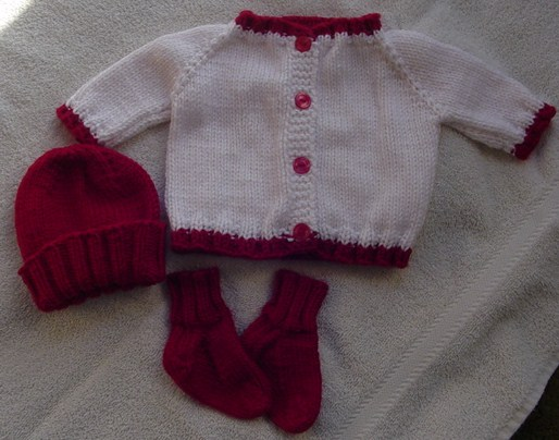 Cozys Corner Sues Easy Top Down Baby Sweater