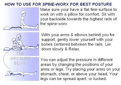 Exercises to Correct Spinal Alignment http://arc4life.blogspot.com/2009/08/arc4lifes-spineworxx-system-helps.html