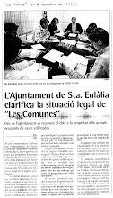 ANY 1995 : ES DESCOBREIX EL FRAU I L'AJUNTAMENT RECTIFICA.