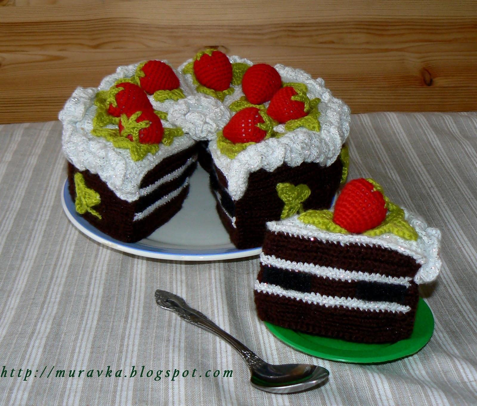 Вязаный торт спицами мастер класс