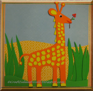 Craft Ideas Nursery on Craft Ideas For All  Handmade Nursery Wall Art Part   I  Giraffe