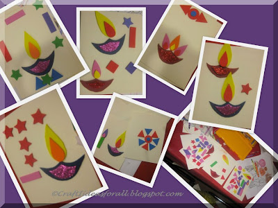 Waste Craft Ideas Kids on Diwali Craft Activity For Kids
