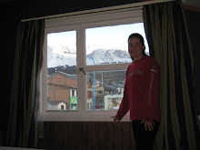 The view from our room in Ushuaia