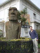 A Moai head from Easter Island in Vina del Mar..
