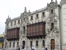 The outside of part of the cathedral in Lima.