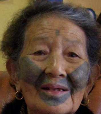 Atayal Facial Tattoo