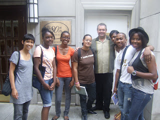 Here Is The Great Group Of Young Poets Who Are Taking My Applied Poetics Class At Bowery Poetry Club I Brought Them To 80th Street Residence Last