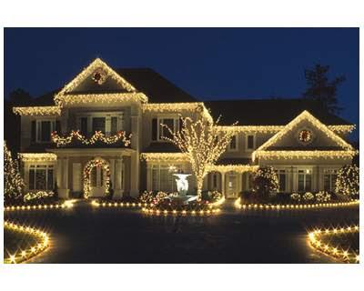 Outdoor Christmas Lights Rain