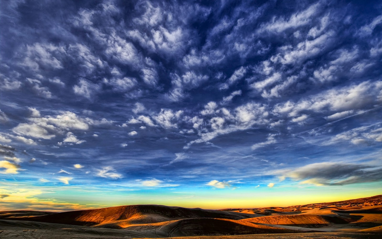 Wide Blue Sky Scenery Backgrounds