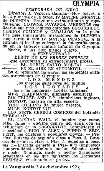 3 diciembre 1925