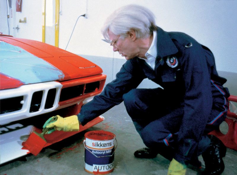 Andy Warhol painting a BMW M1 in 1979
