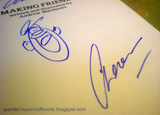 My autographed copy of 'Making Friends'