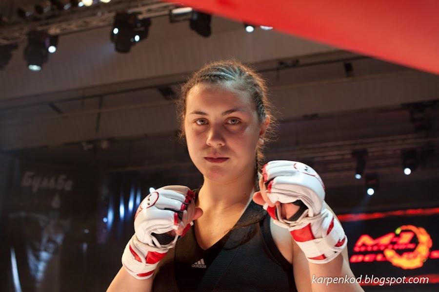 Людмила Рачко (Минск) перед поединком в рамках чемпионата M1 Belarus Selection 2010
