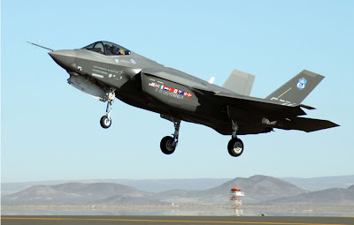F-35 Joint Strike Fighter landing.