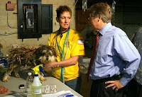 Greg Zoeller with puppy.