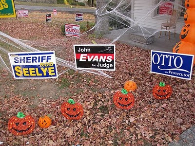 2010 Trick or Treat: Rod Seelye for Sheriff, John Evans for Judge, and Otto Schalk for Prosecutor