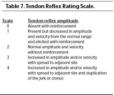 Reflex scale