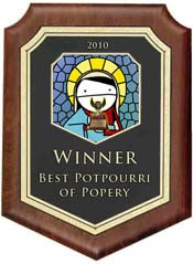2010 Cannonball Catholic Blog Award