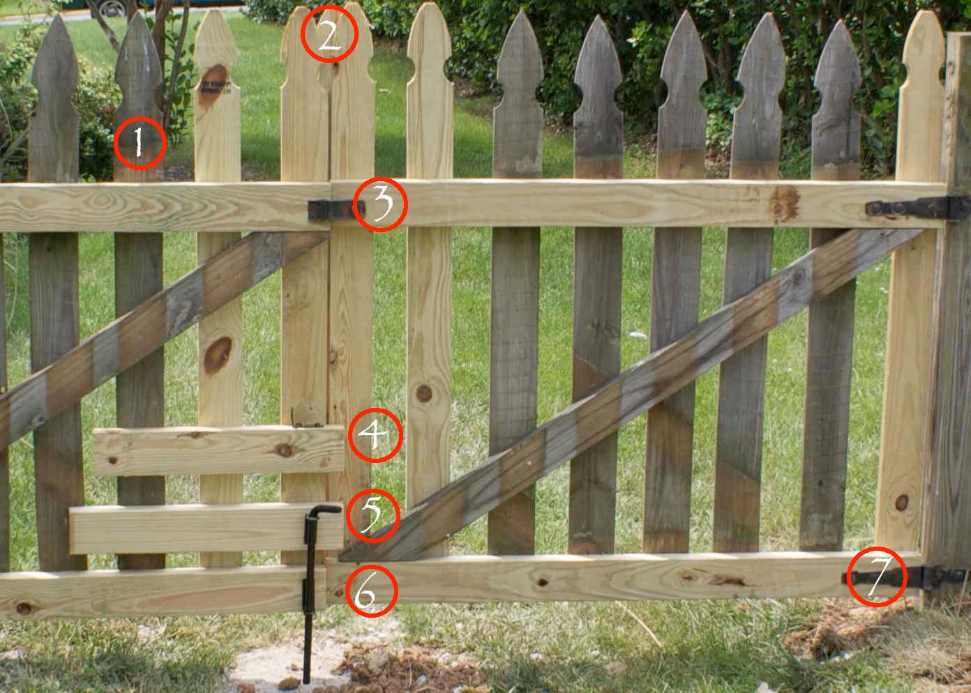 DIY Wood Design: Build wooden gate frame