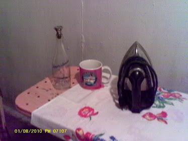 pink ironing board