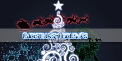 Ja passou, mas ta ae - Brush de Natal. Brushes+de+Natal+00