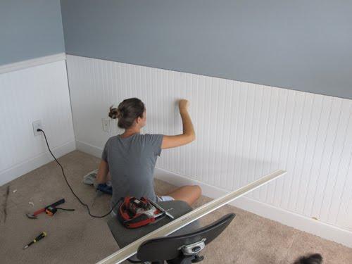Beadboard Accent Wall Bedroom