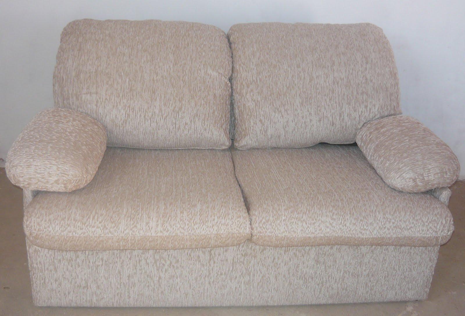 Estofados fergon sof cama de 02 lugares em chenile bege for Sofa 02 lugares