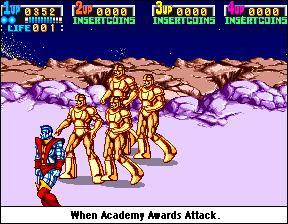 Golden robots.