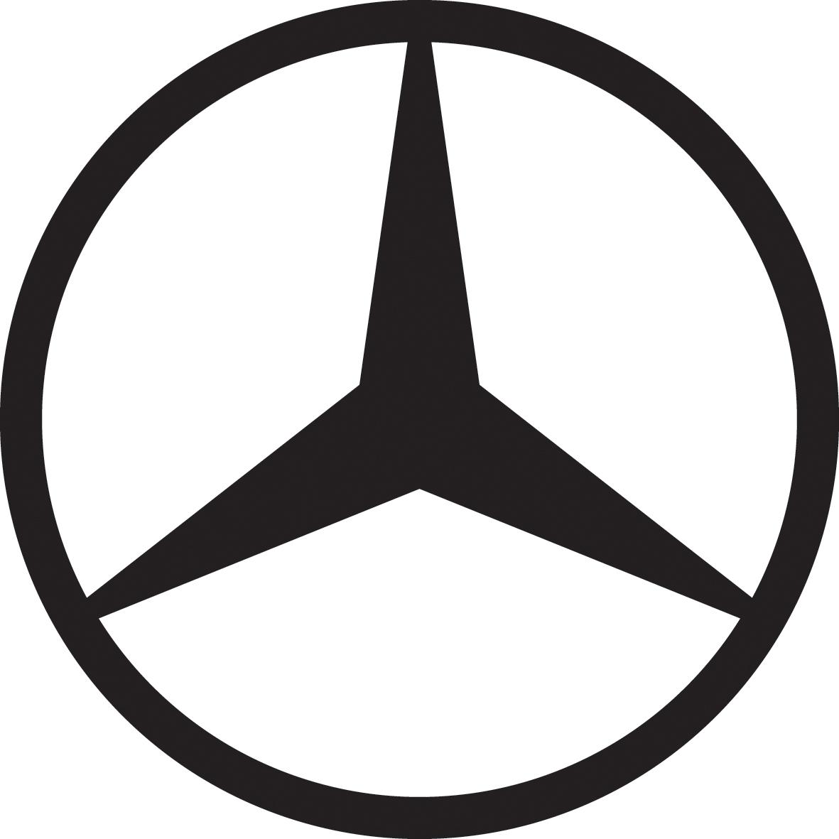 Mercedes Logo Black And White Www Imgkid Com The Image