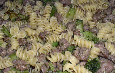 Rotini Pasta with Sausage and Broccoli