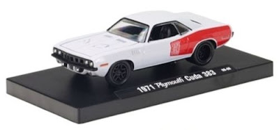 Marks Diecast M2 Machines Drivers Release 2 1971 Plymouth Baracuda White