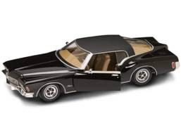 Buick Diecast Yatming 92558Black 1-18th Scale 1971 Buick Riviera Black With Black Vinyl Top
