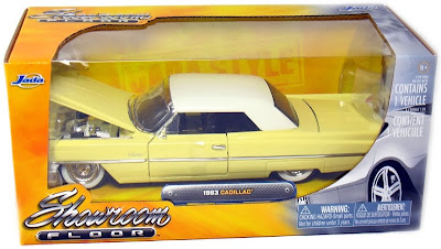 Cadillac Diecast Jada Showroom Floor 1/24th Scale 1963 Cadillac Hard Top Yellow