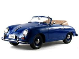 Porsche Diecast Signature Models No. 38201 1950 Porsche 356 Convertible Blue