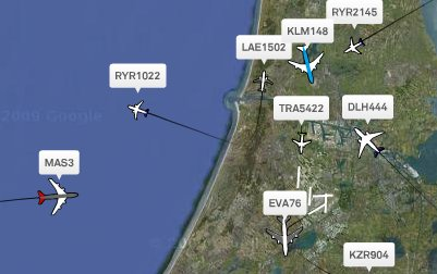 Air traffic Amsterdam