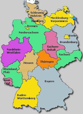 Around the World Maps Germany Regions Map