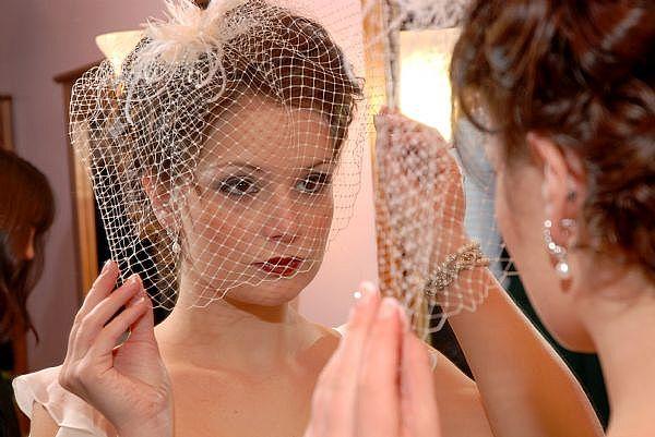 birdcage veils.