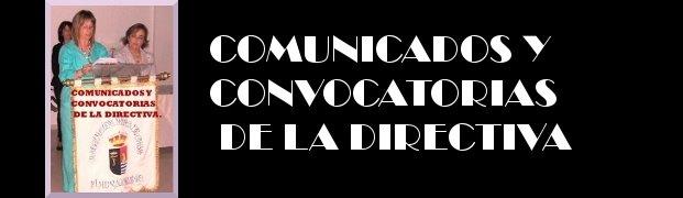 Comunicados para socias