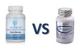 Picture of Provillus vs Procerin hair loss treatments